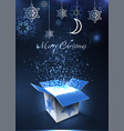 merry christmas and happy new year postcard magic vector image vector image