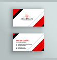 modern professional red business card design vector image vector image
