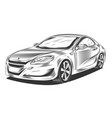 modern sport car sedan hatchback vector image