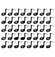 musical note alphabet vector image vector image