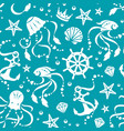 ocean treasures seamless pattern vector image