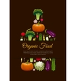 Organic vegetarian food emblem sign vector image vector image