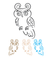 owl bird tribal vector image vector image