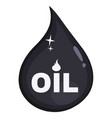 petroleum or oil drop icon flat design vector image
