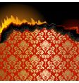 piece burning paper vector image vector image