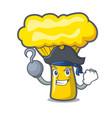 pirate chanterelle mushroom character cartoon vector image vector image