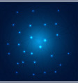 polygonal technology on dark blue background vector image vector image