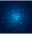 polygonal technology on dark blue background vector image