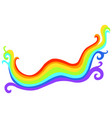 rainbow colorful doodle flat icon isolated on vector image vector image