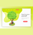 read to grow yourself isometric flat vector image