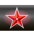 red star background grid vector image vector image