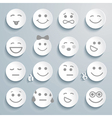 Set of faces with various emotion expressions vector image vector image