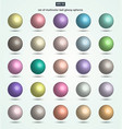 set of pastel color ball glossy spheres vector image vector image