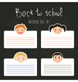 set of school tags with chlidren smiles vector image