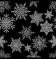 snowflakes seamless pattern holiday white and vector image vector image