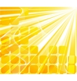 solar banner - orange card vector image vector image