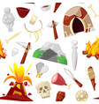 stone age primeval neanderthal stoned vector image