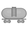 Tanker trailer on train icon monochrome style vector image vector image