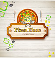 tasty italian pizza capricciosa background vector image