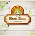 tasty italian pizza capricciosa background vector image vector image