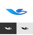 travel agency or airline stylized logo bird vector image