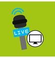 tv plasma digital news icon vector image