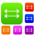 two barbells set collection vector image vector image