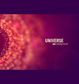 universe abstract background big data vector image vector image