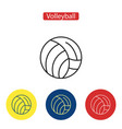 volleyball flat fit icons vector image