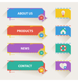 Retro Web Navigation Templates with Icons vector image