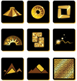 set of elements in the style of gold of the Incas vector image