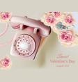 vintage retro phone realistic vector image