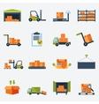 Warehouse Icons Flat vector image