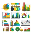 Graph chart icons vector image