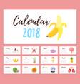 2018 year calendar vector image vector image