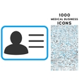 account card icon with 1000 medical business icons vector image vector image
