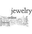 affordable jewelry a click away vector image vector image