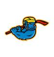 american bully ice hockey mascot vector image vector image