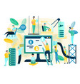 building internet network flat concept vector image