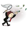 businessman catch a money Manager vector image vector image
