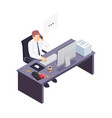 busy worker icon vector image