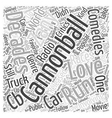 cannonball run Word Cloud Concept vector image vector image