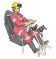 car test dummy in pink jump suit on white vector image