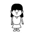cartoon little girl young female person vector image vector image