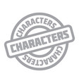characters rubber stamp vector image vector image