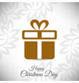 christmas card with pattern and light background vector image