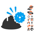 circular blade head protection icon with dating vector image