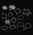 clouds thoughts chalk vector image vector image