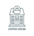 coffee house line icon linear concept vector image