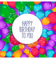 colorful balloons background for happy birthday vector image vector image